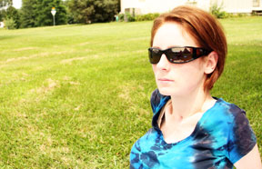 Kiki during an outdoor workout.