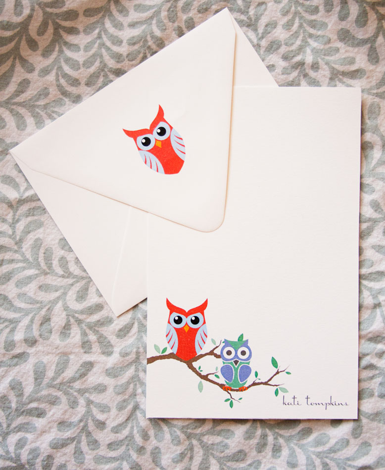 Owl stationery