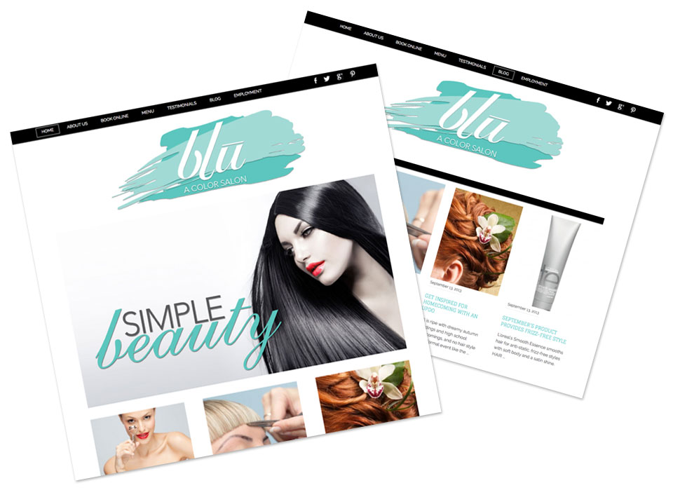 Website Design for Hair Salon