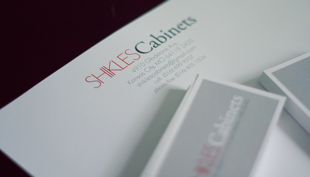 Letterhead for Shikles Cabinets