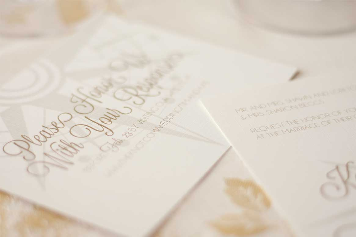 ld compass wedding invitation