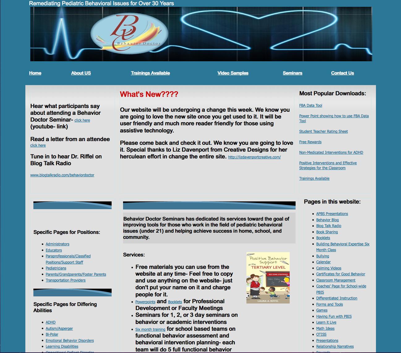 Behavior Doctor Seminars _ Old site