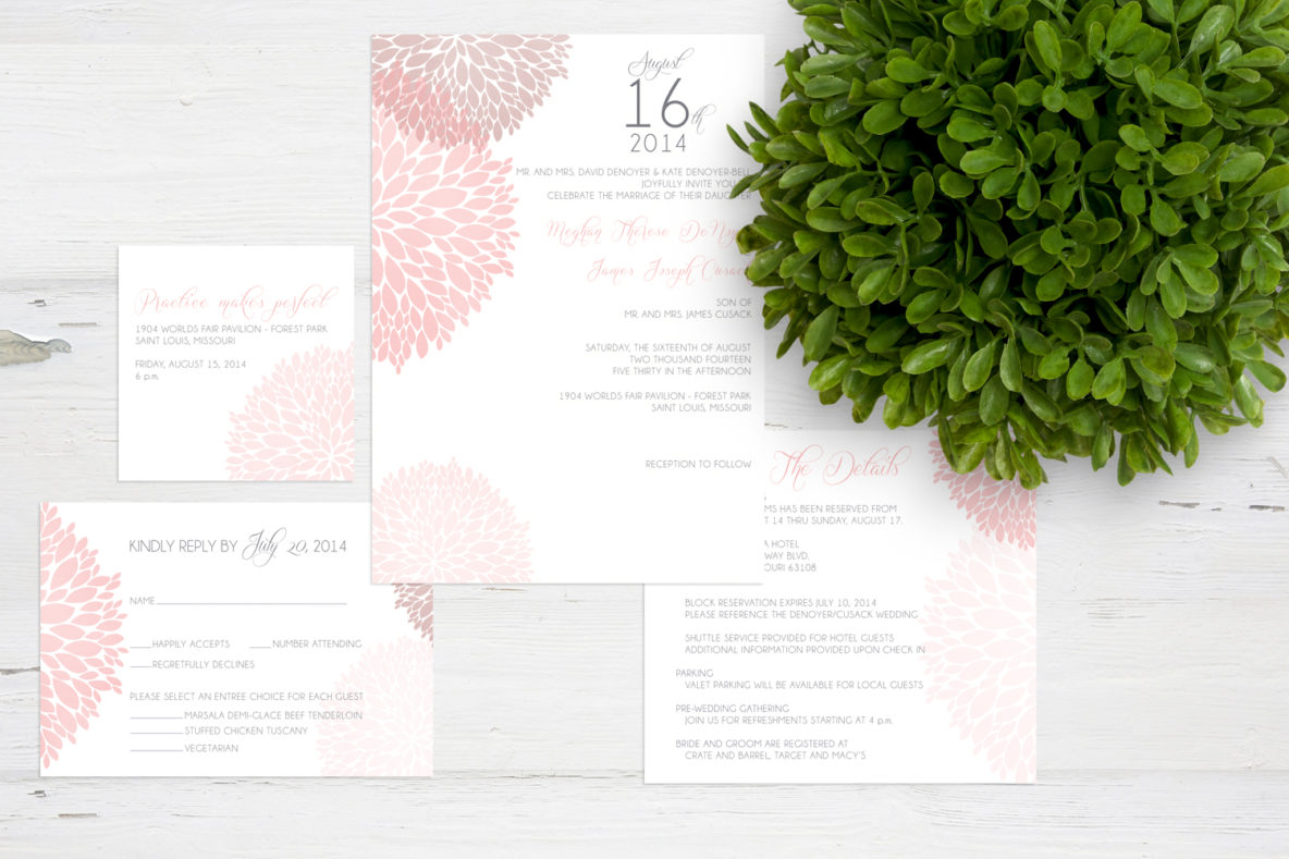 liz davenport creative wedding invitation design
