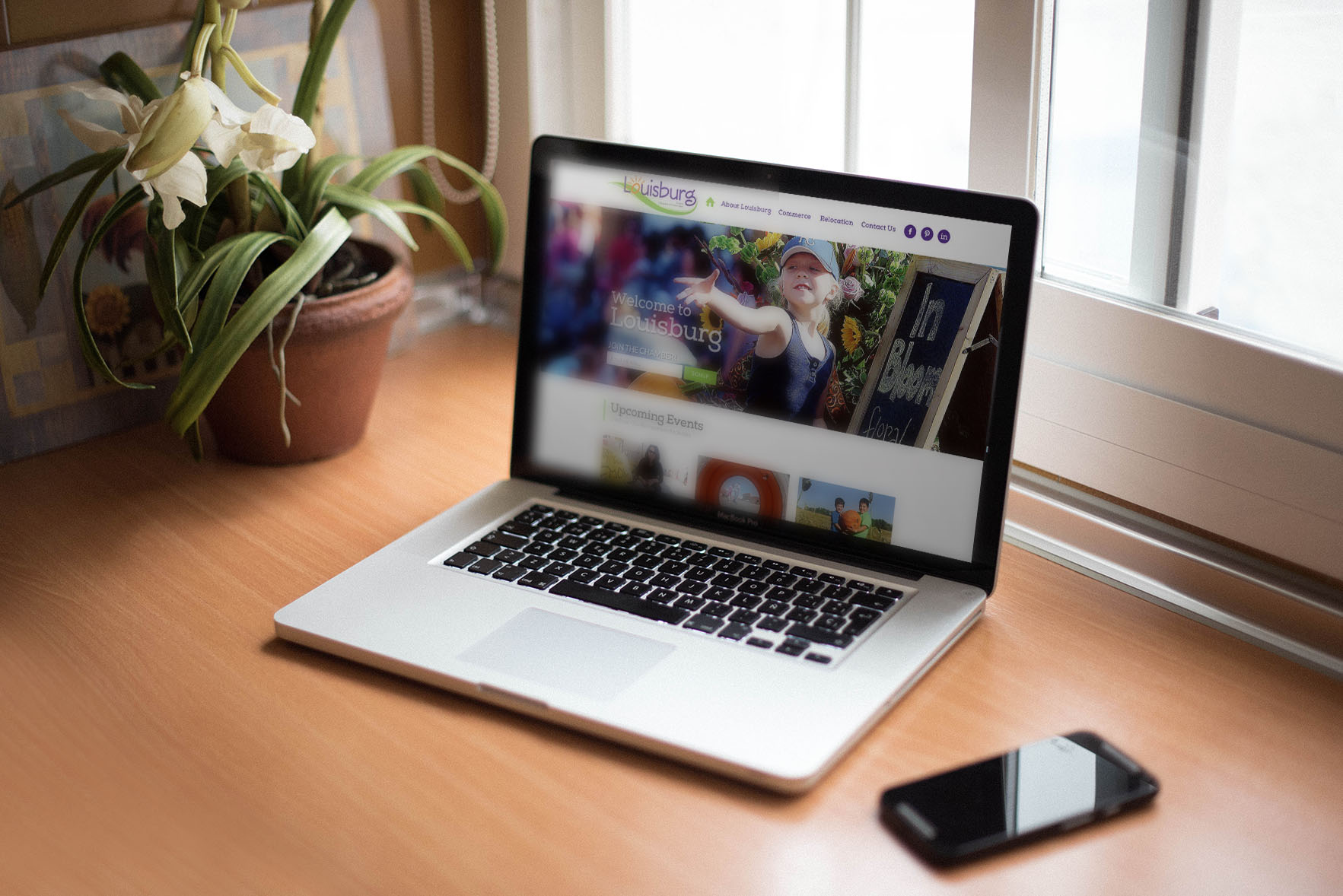 Clean website with good design