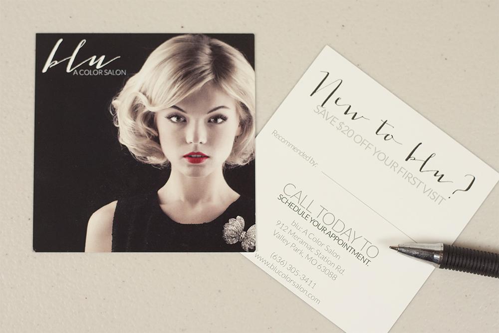 Salon Branding - Hair Salon Referral Card Design