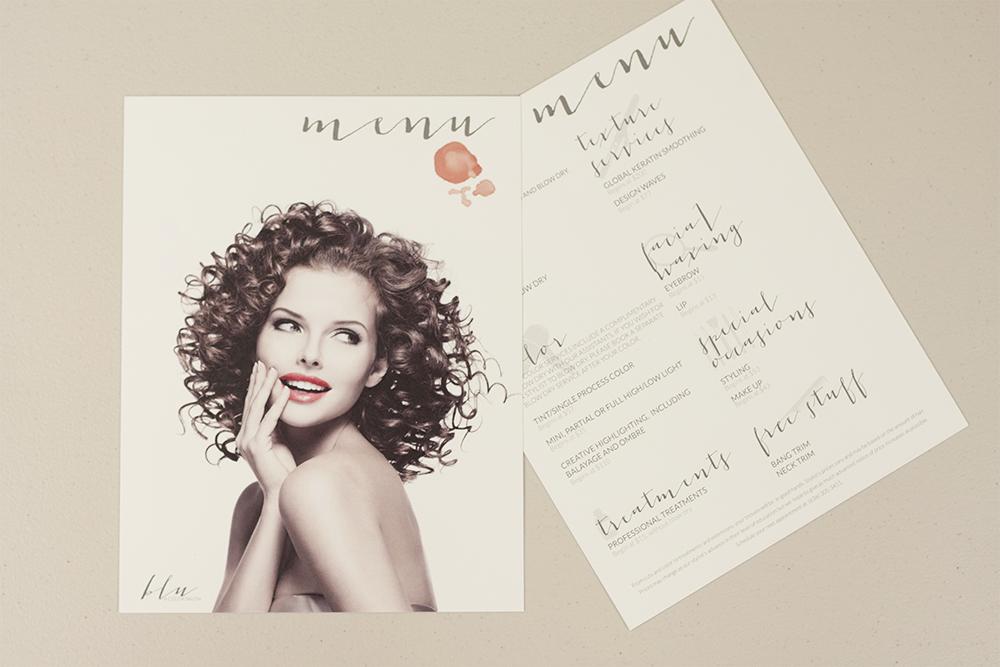 Salon Branding - Hair Salon Service Menu Design