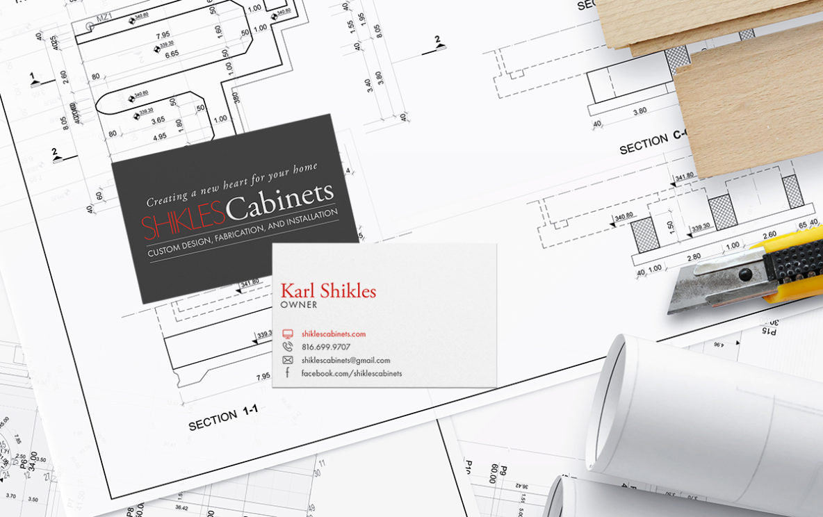 Business Card Design for Shikles Cabinets